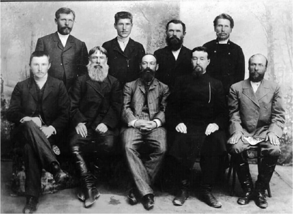 николай смецкой с группой русских промышленников